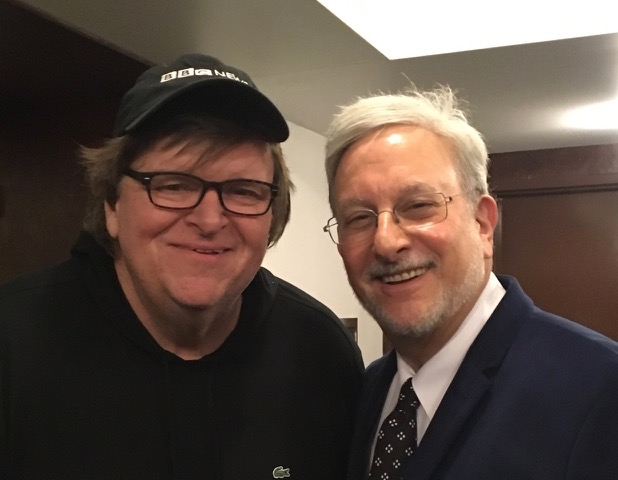 Winners Michael Moore and Joshua Ellis at the 2017 United Solo [TM] Theatre Awards ceremony in New York City on November 19, 2017.  In 2017 United Solo presented over 120 shows from six continents.  www.unitedsolo.org