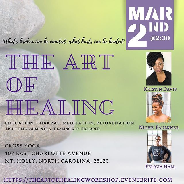Can I recommend a diverse plan for your weekend?⁣ 1. Learn ways to get your entire life at The Art of Healing ✅⁣ 2. Commence with friends to celebrate CIAA (yes, we know CIAA is in town) ✅⁣ 3. Wind down on Sunday applying the tools that you received and learned at The Art of Healing ✅⁣ **********⁣ There's still time to register! Link in bio🤗⁣ ⁣  #ciaa2019 #charlottenc #thenichelife #mentalhealthawareness #mentallyhealthyisthenewsexy #healthylifestyle #yoga