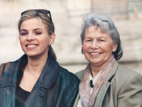 My beloved mother and me in Italy, a few years before she passed away. Photo: Frans Klerkx