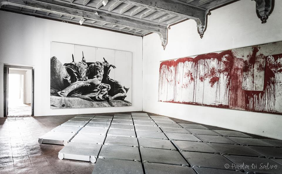 Hermann Nitsch, Umberto Cavenago (floor piece), Marco Mazzucconi (photo)