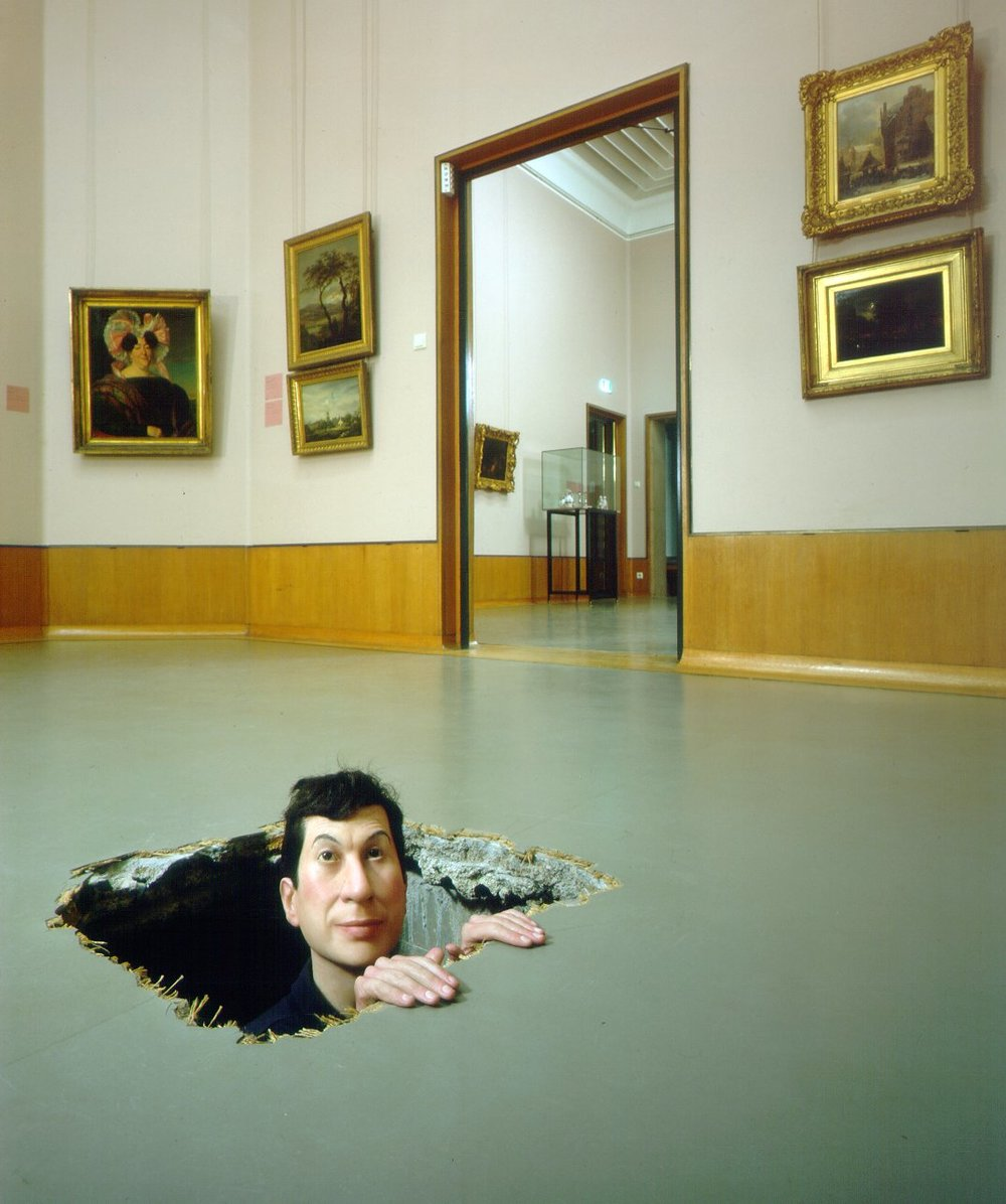 Maurizio Cattelan, Untitled, 2001, Exhibition view at the Boymans van Beuningen in Rotterdam