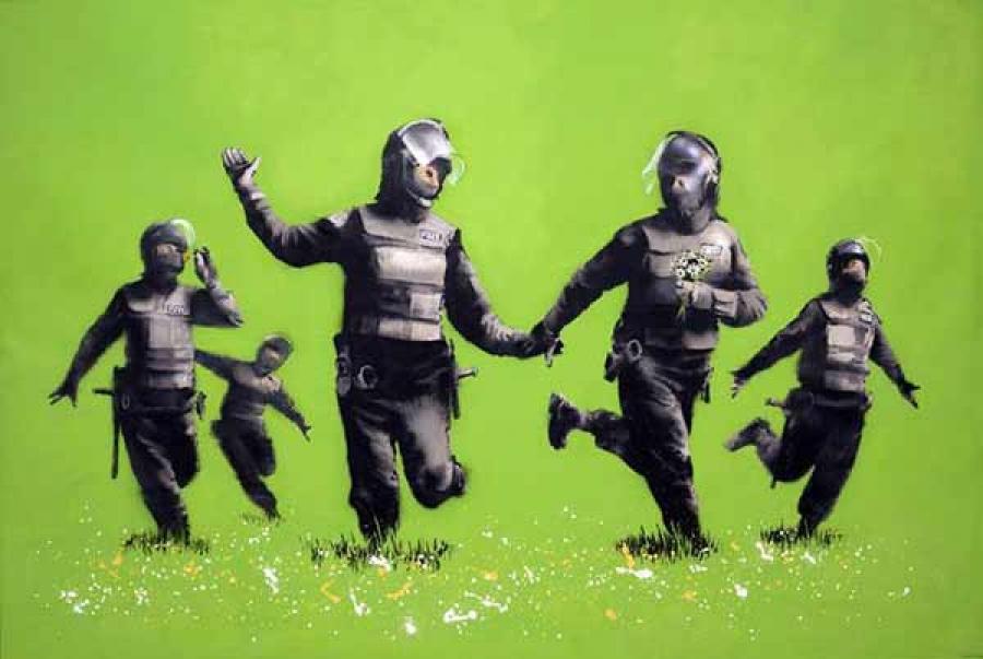Banksy, Beanfield, te zien in het Moco