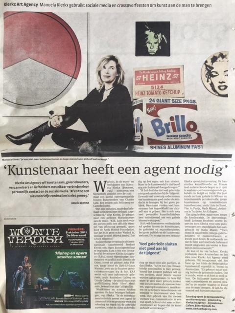 Het Parool, 5 oktober 2011, Interview: Daniël Bertina Foto: Jan van Breda