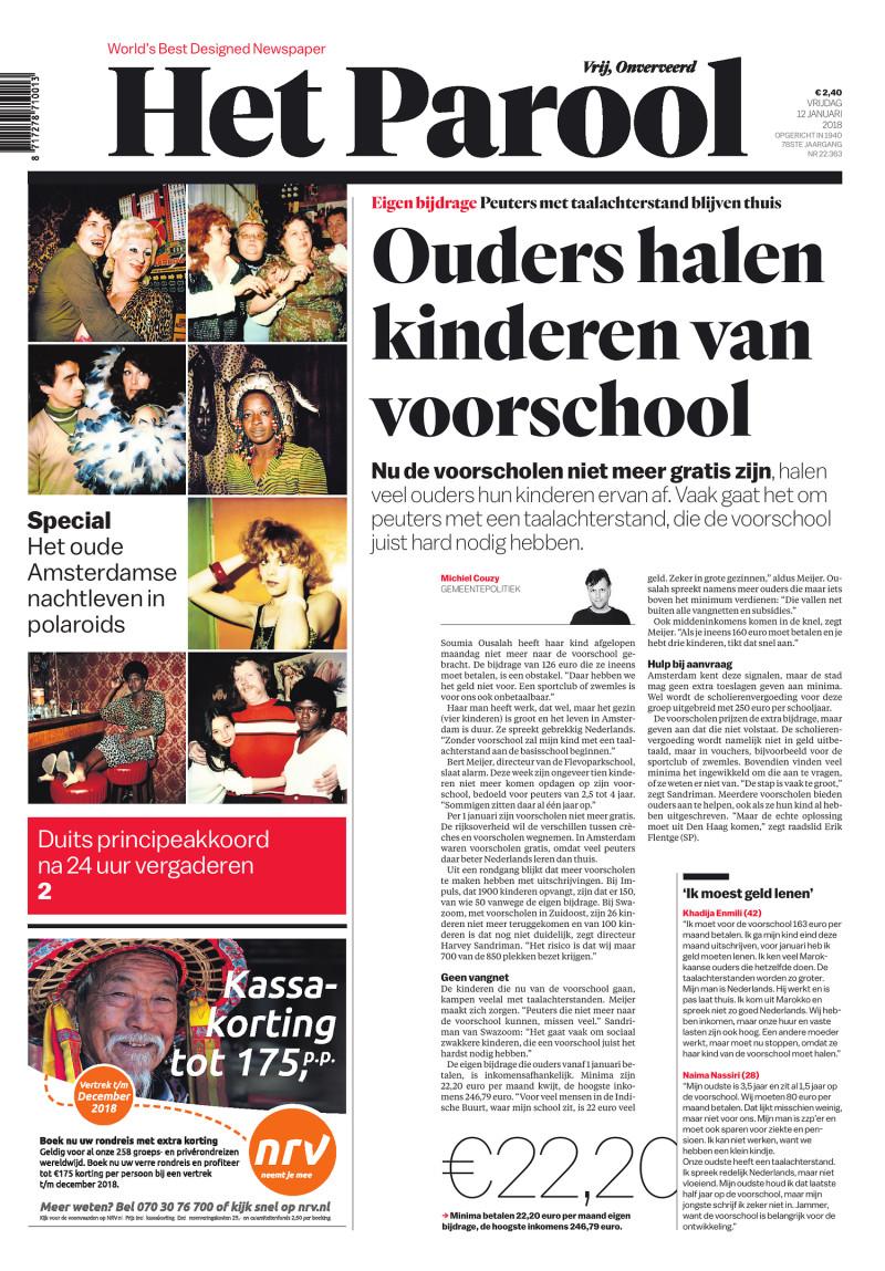 Het Parool, 12 January 2018