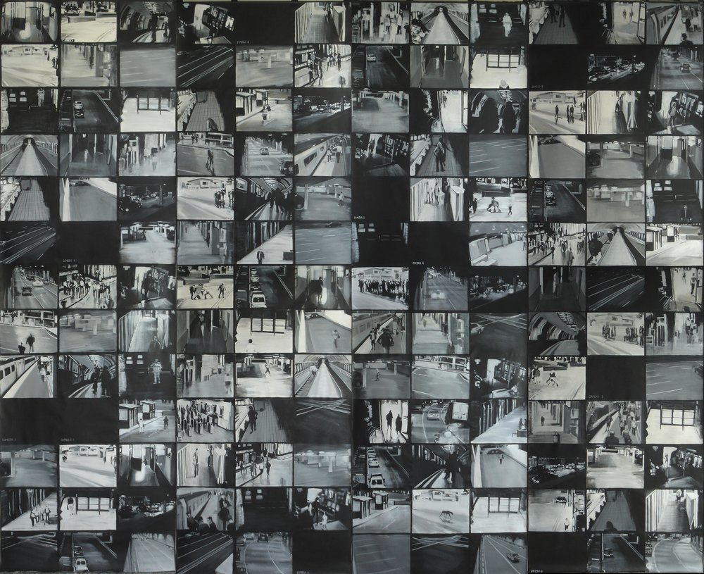 2007- 11 CCTV (Wallpaper X) (2007) Acrylic on canvas 4 rolls, 450 x 138 cm.jpg