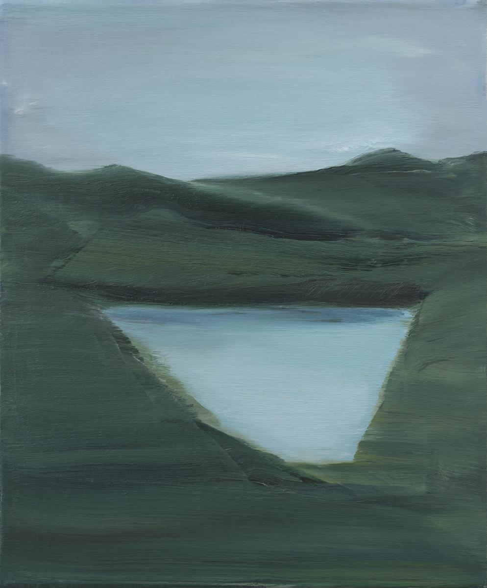 Michaël de Kok, Lake, 2018, olieverf op canvas, 60 x 50 cm.
