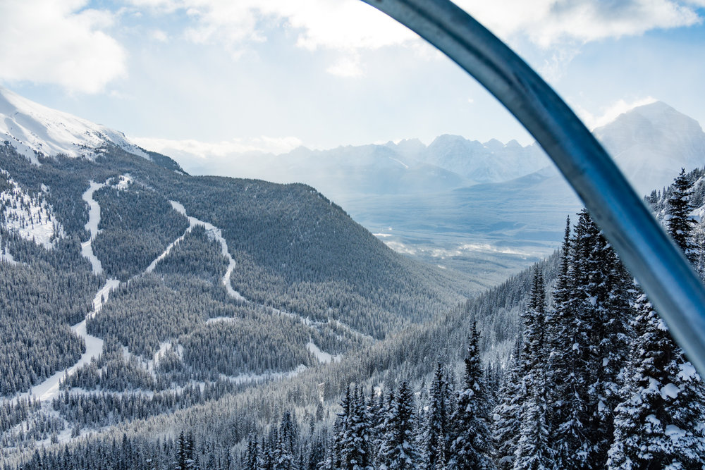 Being up here, snowboarding in Lake Louise is fantastic.