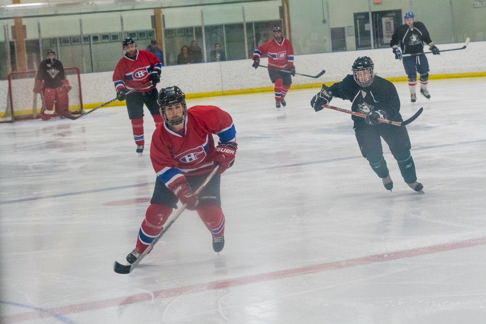More ice hockey.  This was the Lake Louise team, getting battered by some other team.