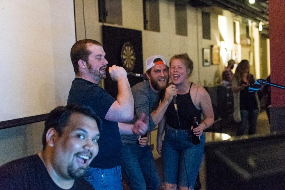 Karaoke night with Joe.