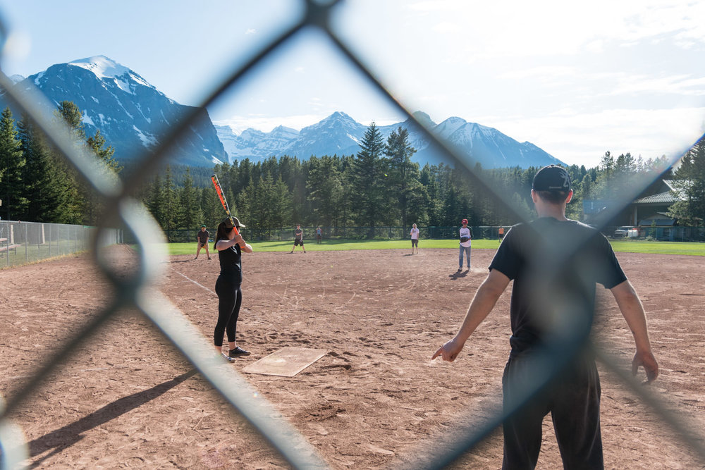 The start of the softball season.