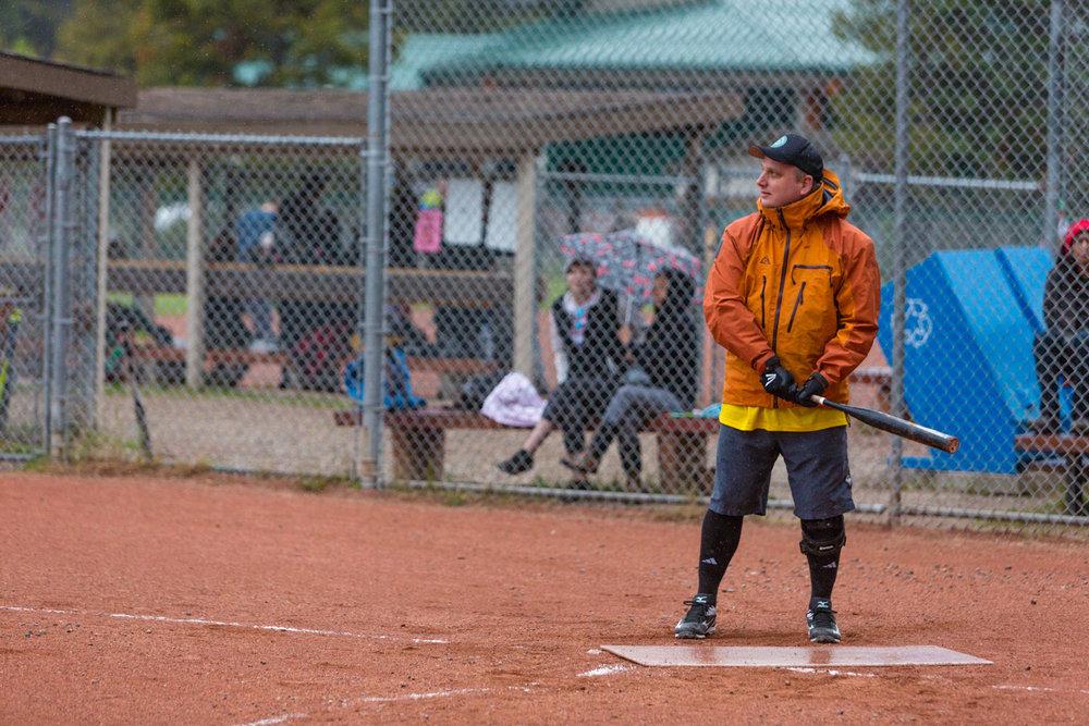 Rain during the softball season.
