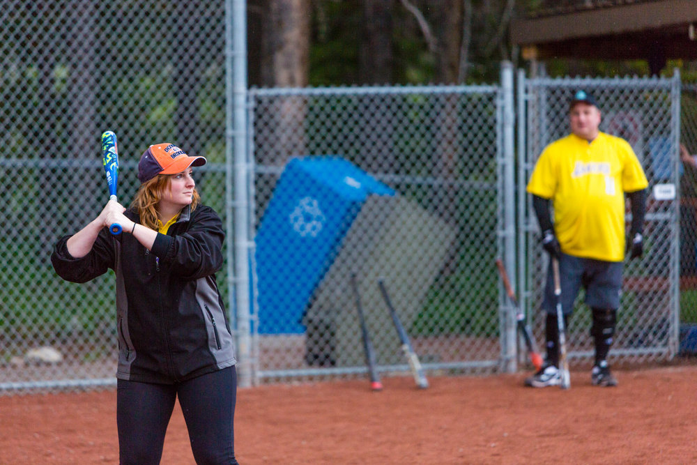 Erika getting ready to bat another home run.