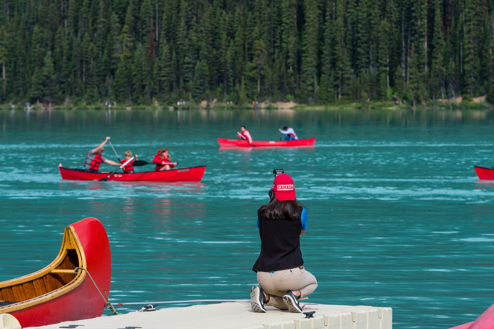 There are a canoe race, for both guests and staff.