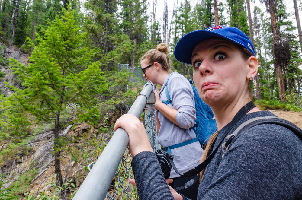 Another serious hike with Megan.