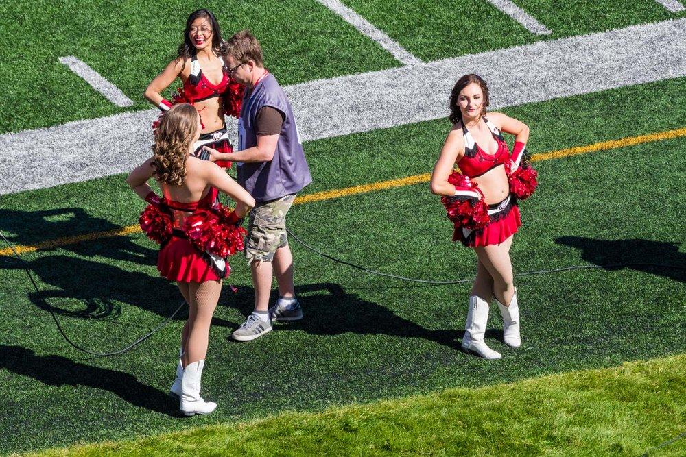I found the cheerleaders fasinating.