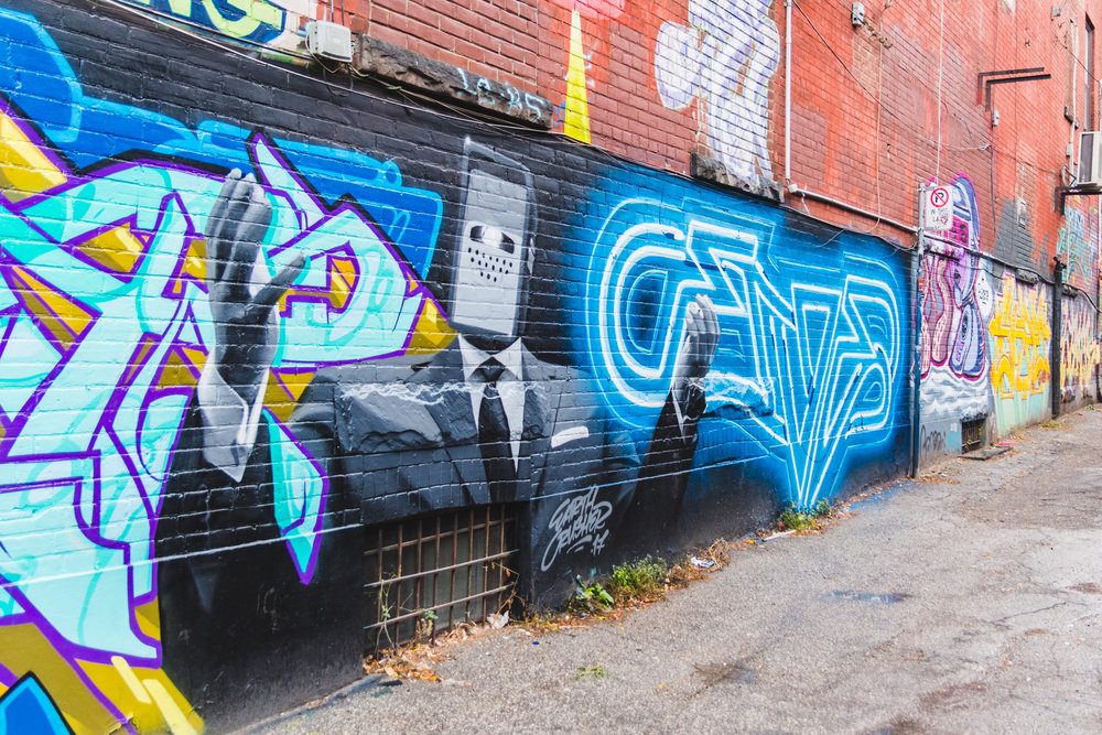I have never been a fan of street art or graffiti, other than Banksy. But the artwork in graffiti alley was amazing.