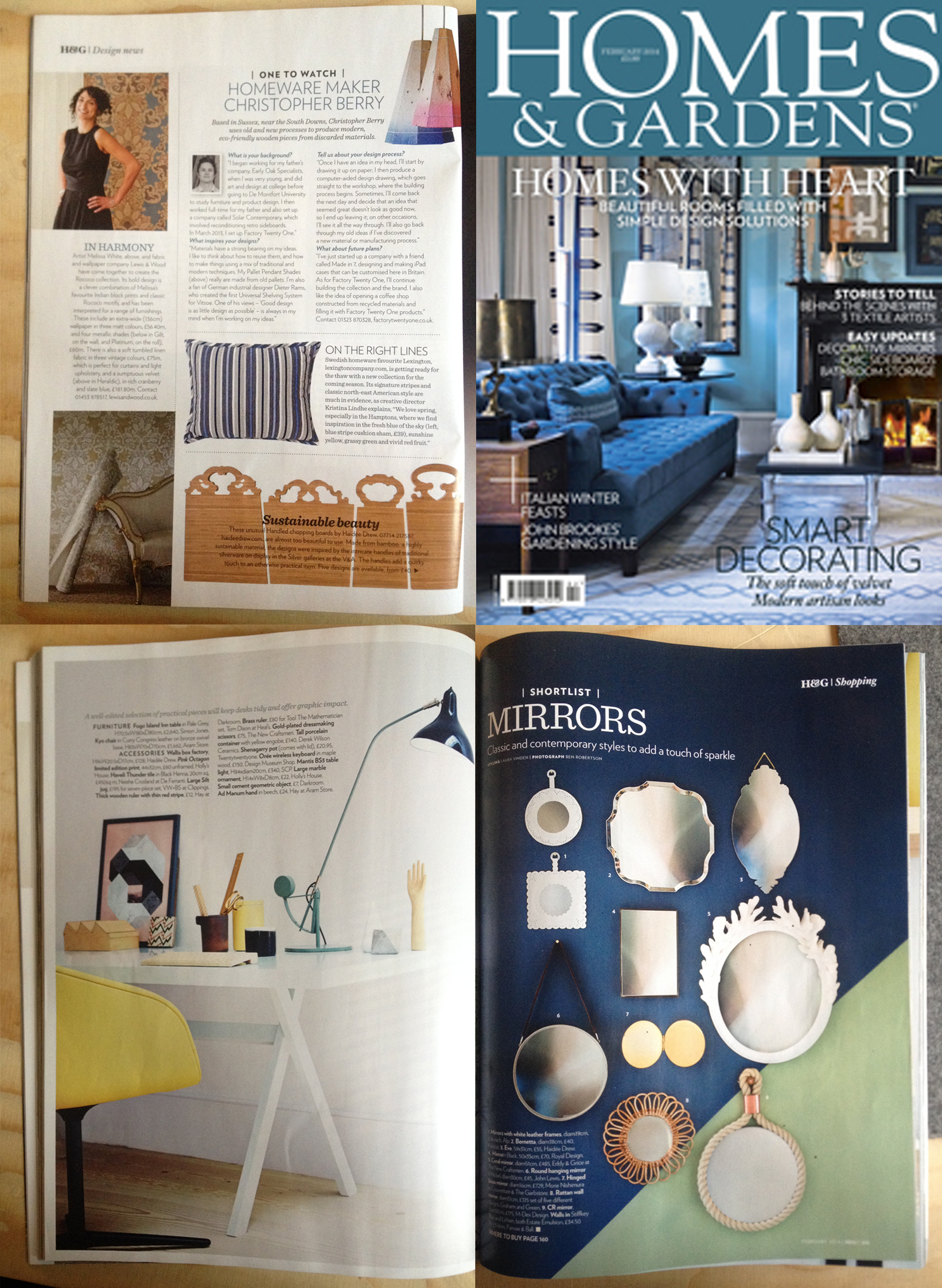 HOMES AND GARDENS FEB 2014