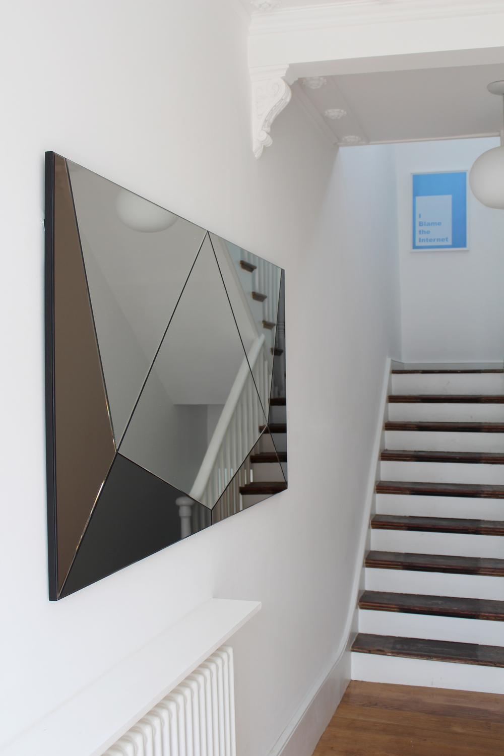coloured geometric mirror commission hallway stairs haidee drew.jpg