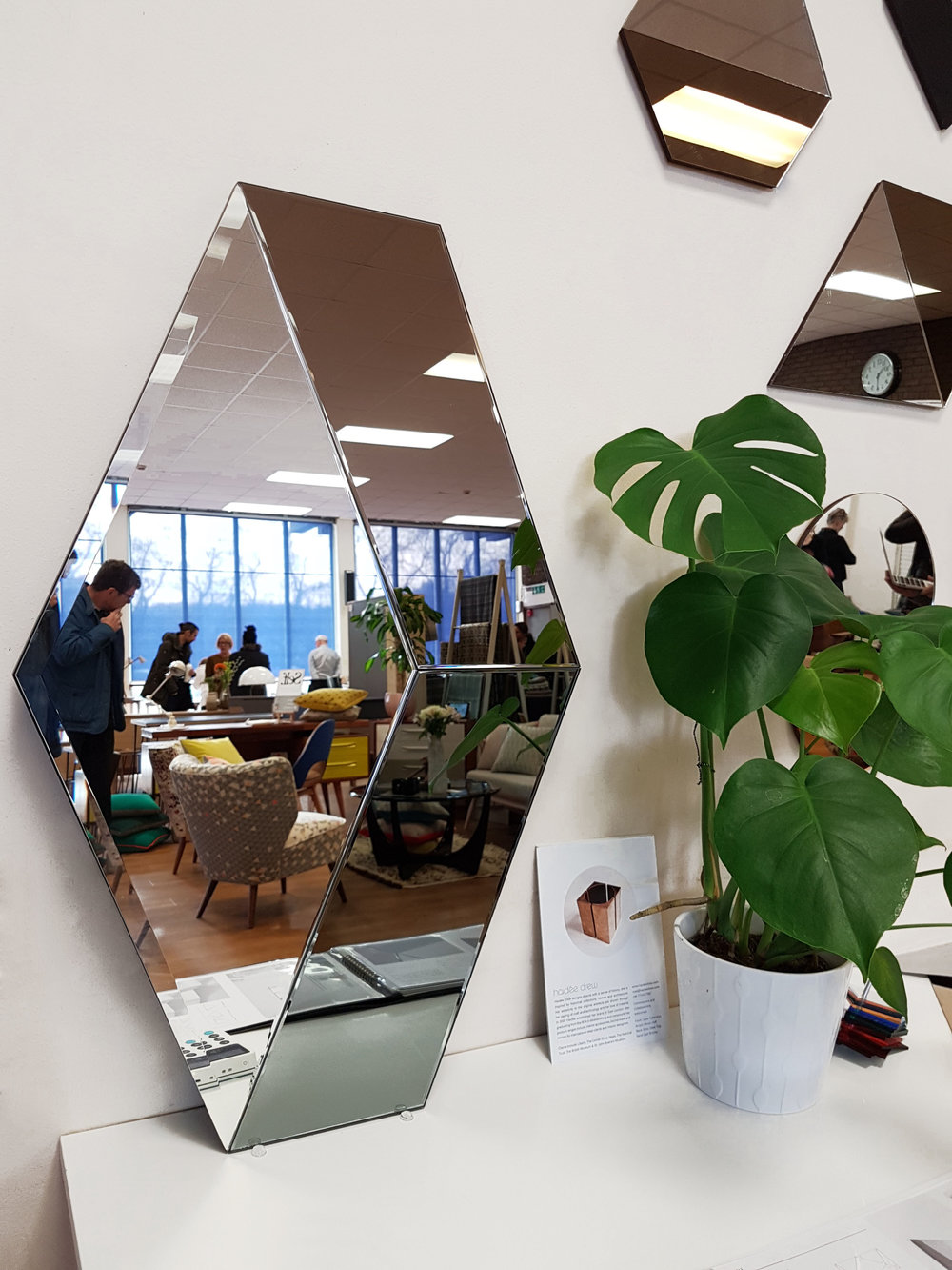 NEW HEX MIRROR - HEX Mirror will launch very soon so watch this space. The mirror made from 4mm glass mirror in silver, grey and bronze has both small and large bevels to create a really stunning focal point in a room. Not just a functional piece but a work of art with hints of contemporary luxury and geometry.