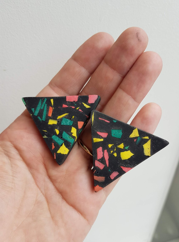 earrings terazzo