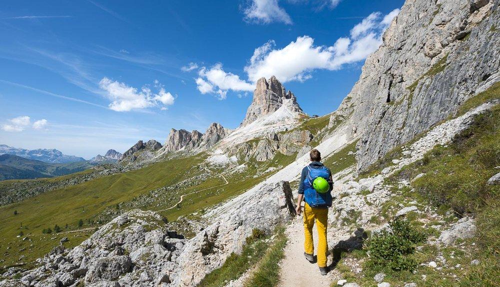 Blick auf den Averau vom Rückweg zum Passo Giau