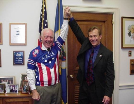 CONGRESSMAN JIM OBERSTAR, WHO PASSED AWAY MAY 3, 2014, AND THE BLOG AUTHOR, RICH KILLINGSWORTH, IN 2011.
