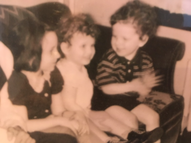 My mother on the far left with her cousin and brother.