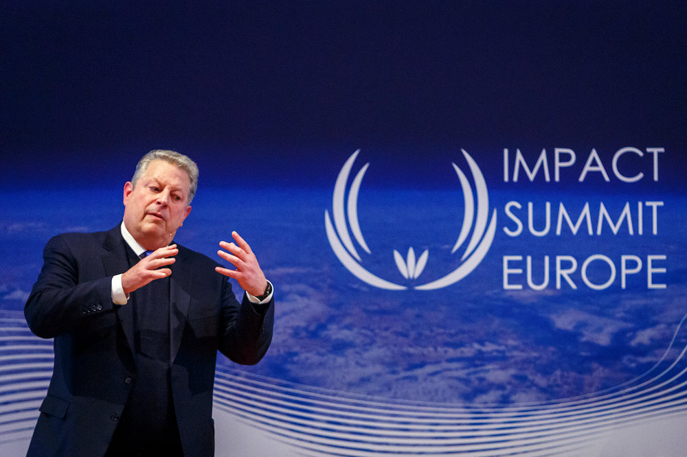Al Gore during Impact Summit Europe 2017