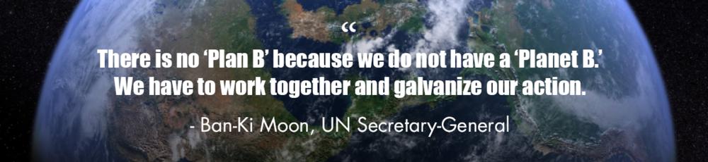 Ban-Ki Moon quote, UN Secretary General