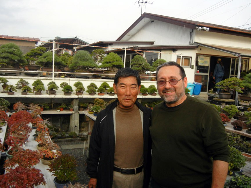 John Romano with shohin bonsai master, Nobuichi Urushibata