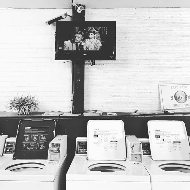 Oldies but goodies on at #PositiveSpinLaundry. Come enjoy your Saturday morning with a little #TwilightZone ✨😎 #Denver #laundromat #parkhill