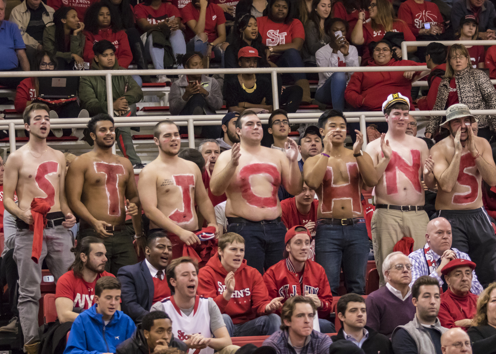 St. John's fans at Carnesecca Arena.