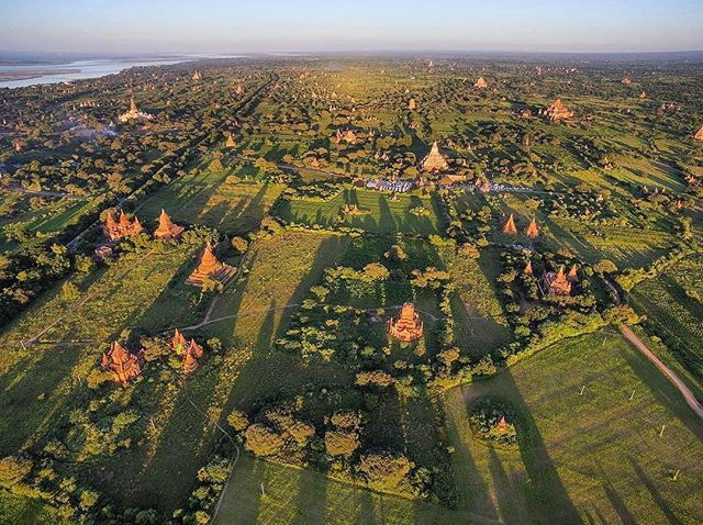 Best way to ever see Old Bagan is on a hot air balloon. Thank you Oriental Ballooning ❤️Pagodas for days