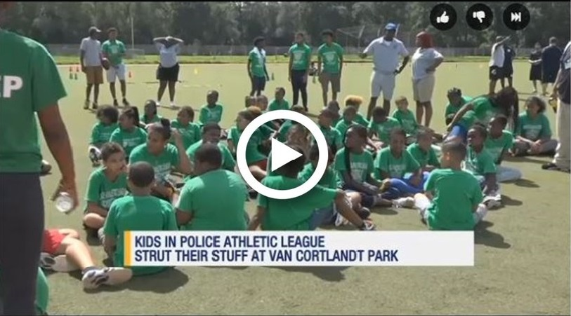 Bronx children participate in police athletic leagues sports day.jpg