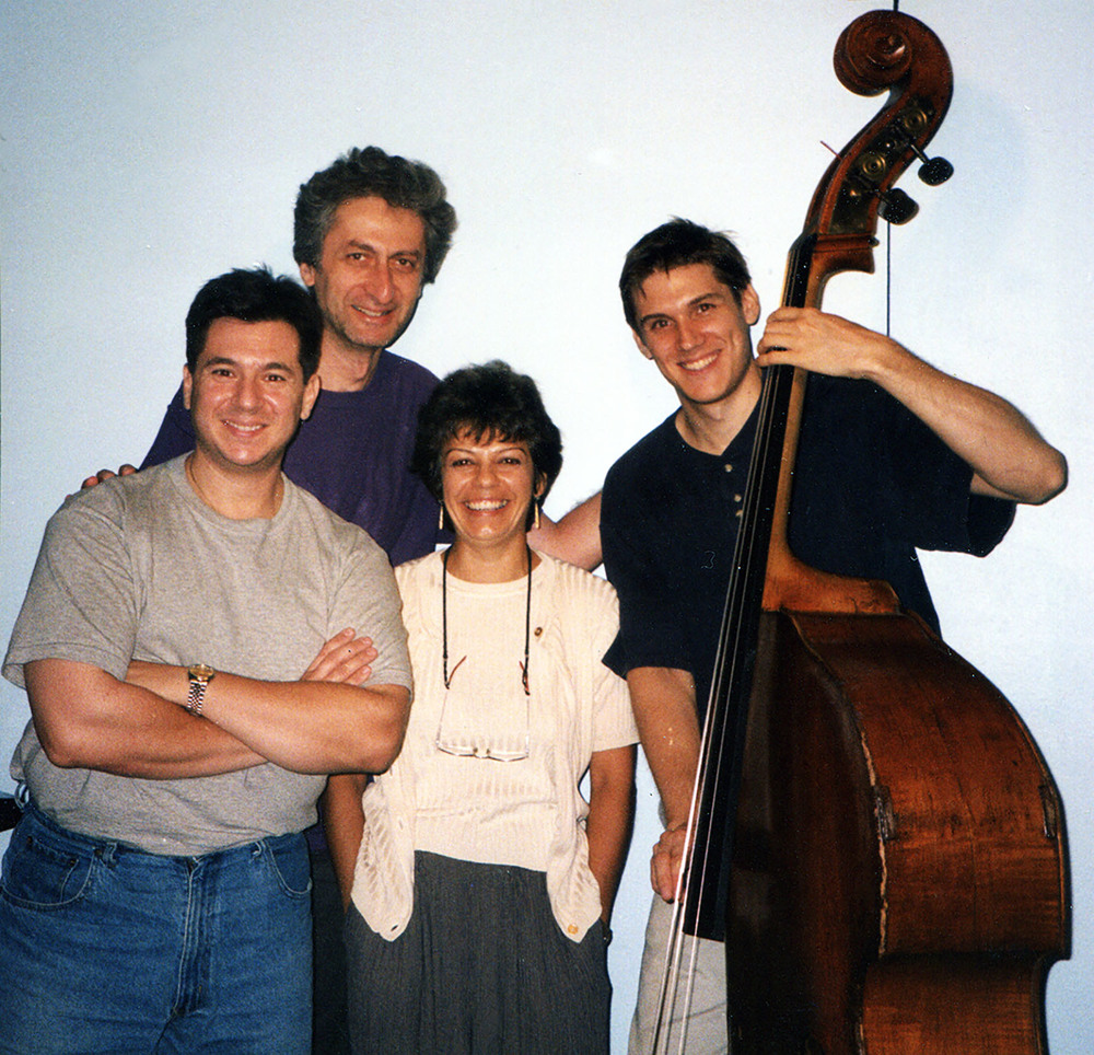Datevik with jazz pianist,  Armen Donelian ,  bassist,  Ben Allison ,  and jazz drummer,  Joe Ascione .