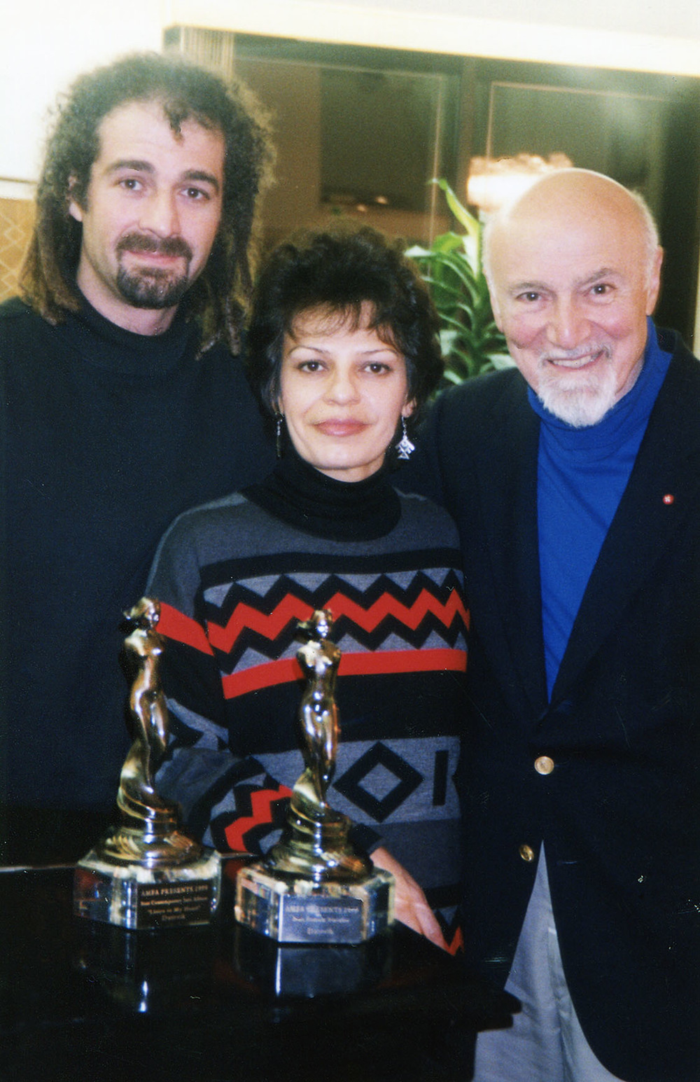 Datevik with  record producer,   George Avakian , and composer, Bernard Ganimian.
