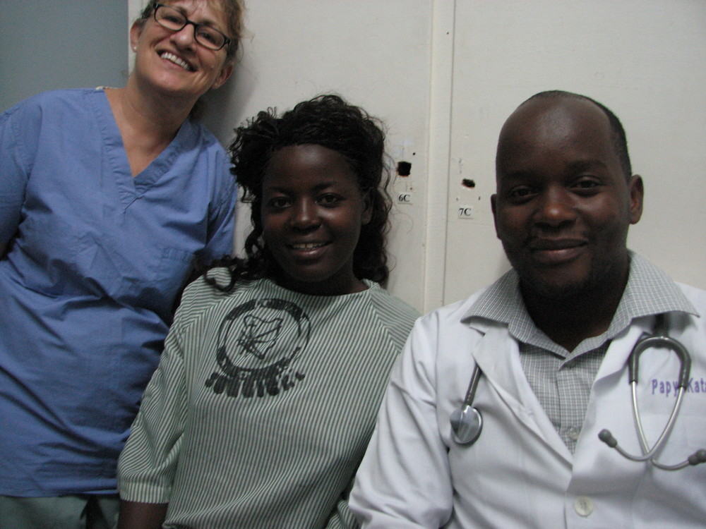 Adokorach with Dr. Papy who came with her from DRCongo