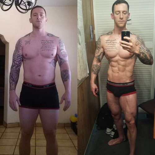 I was able to steadily cut down body fat while maintaining muscle size and strength!