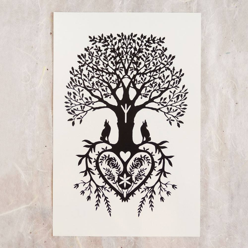 """""""Tree of Life"""", 2008.Scherenschnitte. Used by permission of the artist.See addendum for additional information."""