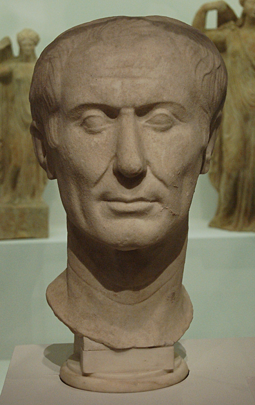 The Tusculum Portrait , a copy of a contemporaneous portrait of Julius Caesar.  Photograph via Wikimedia Commons.