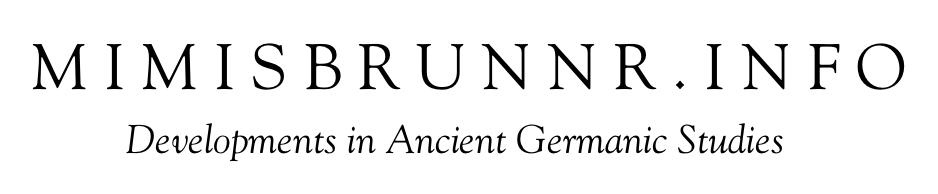 Mimisbrunnr.info: Developments in Ancient Germanic Studies