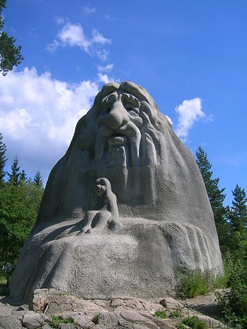 The Holmekollen troll, Oslo, Norway by Shyamal, 2008. Wikimedia Commons.
