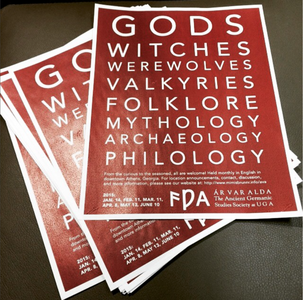 ÁVA flyers by Joseph Hopkins, ready for distribution, 2014