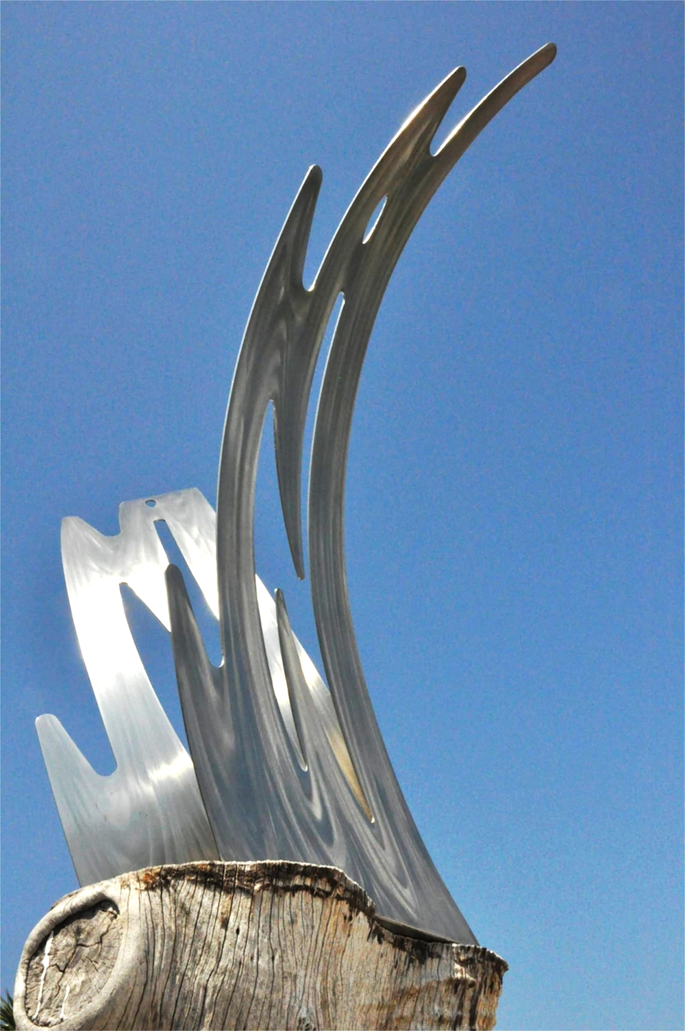 "'New Horizons' • 30"" high • stainless steel"
