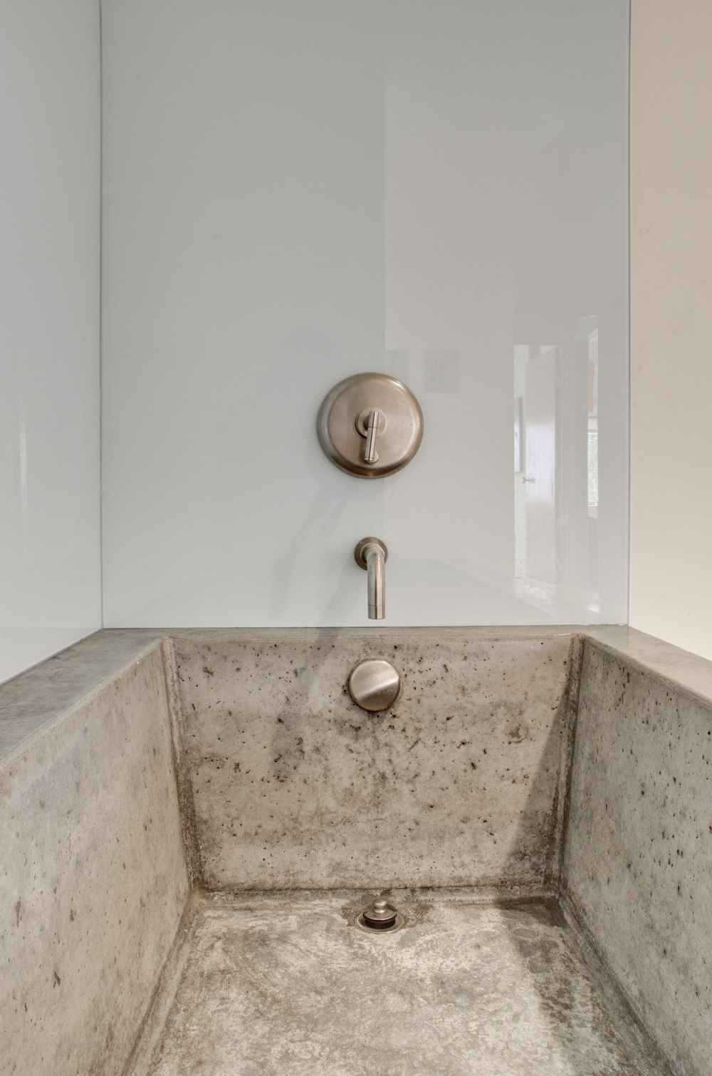 The Upstairs Bath Features A Site Cast Concrete Bathtub (advisable Only In  A Passive