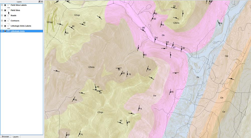 Creating Geologic Maps In Qgis Strike And Dip Symbols John Van Hoesen