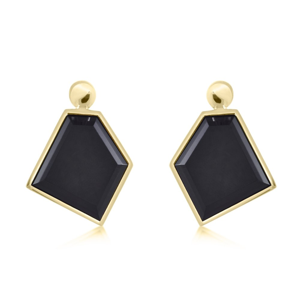 product black orecchini en onyx nero geometric geometrici earrings onice