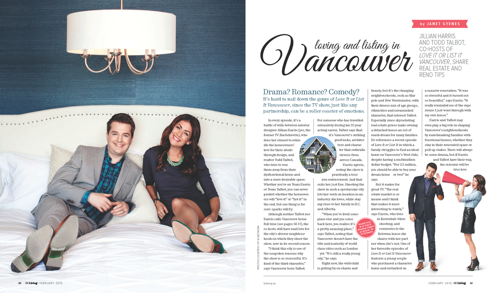 "Todd Talbot + Jillian Harris, co-hosts of W Network's TV series, ""Love It Or List It Vancouver"""