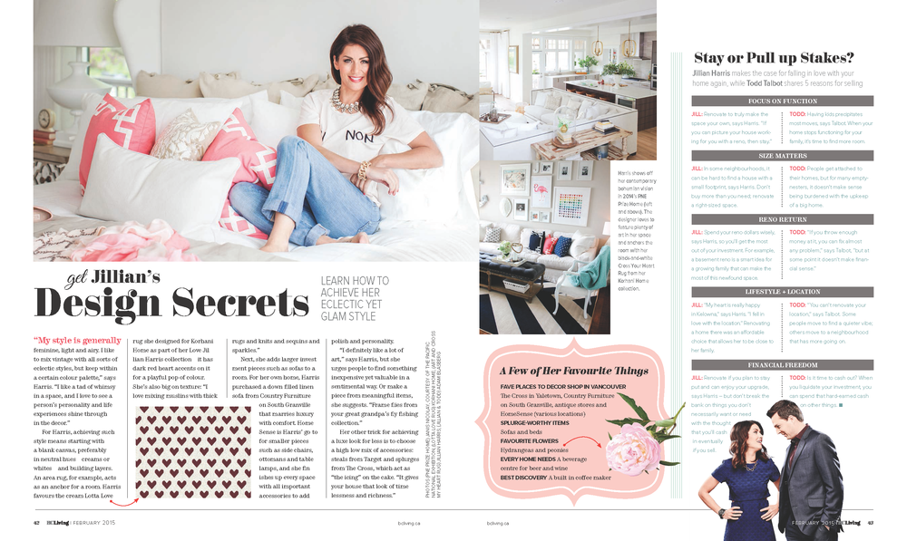 Interior designer Jillian Harris shares design tips