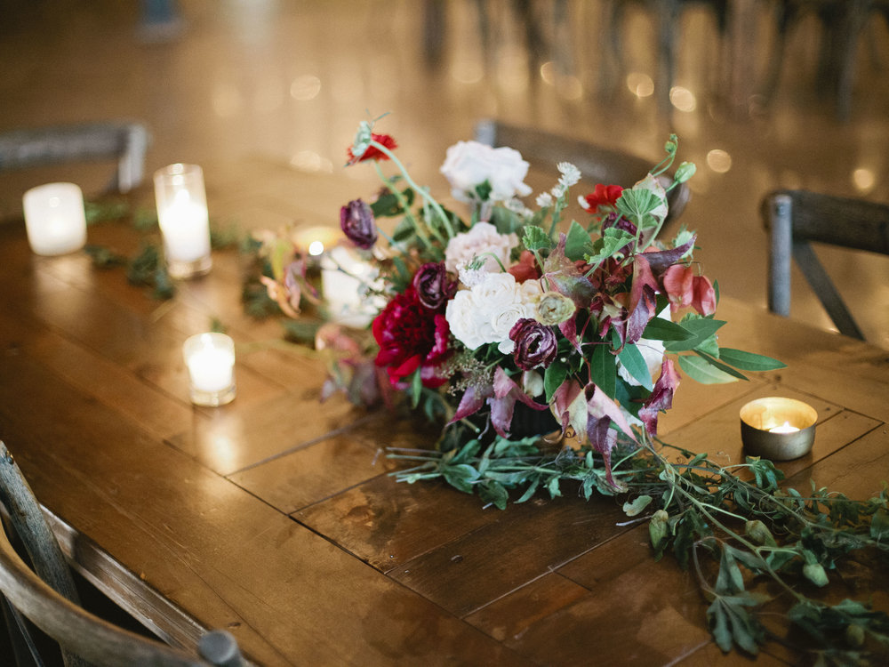Winter Wedding Inspiration Amanda Lenhardt Photography Berry Tone Florals
